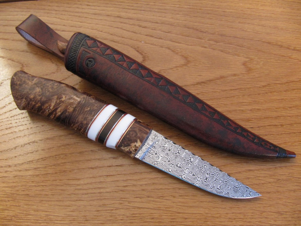 ladder damascus black ash burl corian decorations1