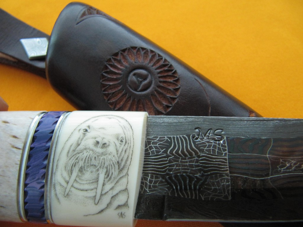 Liebhaberstück Mosaikdamast Scrimshaw Engraving2
